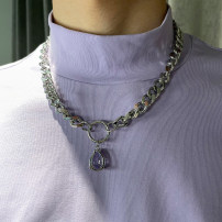 Necklace Titanium steel 1001-3000 yuan Other / other Crystal Necklace brand new Japan and South Korea lovers goods in stock yes Fresh out of the oven no other Titanium steel