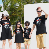 Parent child fashion Gem black A family of three neutral Other / other Mom s, mom m, mom L, mom XL, Dad m, Dad L, Dad XL, Dad XXL, Dad XXXL, boy 5, boy 7, boy 9, boy 11, boy 13, boy 15, boy 17, nubao 8, nubao 9, nubao 10, nubao 11, nubao 12, nubao 13, nubao 14, nubao 15 summer Thin money Solid color