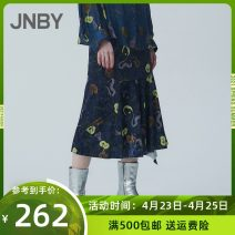 skirt Autumn of 2019 XS,S,M,L,XL 067 / grey, 406 / Tibetan variegated Mid length dress commute Natural waist A-line skirt other Type H 25-29 years old 5J7400490- 91% (inclusive) - 95% (inclusive) corduroy JNBY / Jiangnan cloth clothing polyester fiber Simplicity