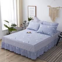 Bedding Set / four piece set / multi piece set cotton Quilting Plants and flowers 128x68 Love life cotton 4 pieces 40 Bed skirt 100% cotton 598=789