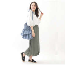skirt Summer 2020 Average size Mid length dress Sweet Natural waist Irregular Solid color Type A other Asymmetry solar system