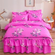 Bedding Set / four piece set / multi piece set Polyester (polyester fiber) other Plants and flowers 133x72 Instant comfort Others 4 pieces 60 First Grade Korean style twill Reactive Print  Thermal storage