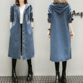 Women's large Autumn of 2018 blue Large XL, large XXL, large XXL, large XXXXL, large XXXXL Windbreaker singleton  commute easy moderate Cardigan Long sleeves Medium length Denim Other / other 91% (inclusive) - 95% (inclusive)