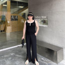 Women's large Summer 2021 Black, white Large XL, large 2XL, large 3XL Vest / sling singleton  commute Socket Sleeveless Solid color Korean version Medium length Cotton, others Xin Cun Zhen 25-29 years old