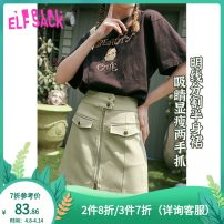 skirt Summer 2020 S M L XL Matcha green moonlight white Short skirt street Natural waist A-line skirt Type A 18-24 years old ES_ 10217045._ AL More than 95% Elf sack / goblin's pocket other pocket Other 100% Same model in shopping mall (sold online and offline) Europe and America