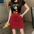 skirt Summer 2020 S [90-100kg], m [100-110kg], l [110-120kg], XL [120-135kg], 2XL [135-150kg], 3XL [150-165kg], 4XL [165-175kg], 5XL [175-200kg] Short skirt fresh High waist A-line skirt Solid color Type A 18-24 years old 81% (inclusive) - 90% (inclusive) Denim JSWETR cotton Button, zipper