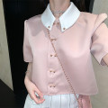 Fashion suit Summer 2021 S M L XL Pink shirt + pleated skirt 18-25 years old Yao Zan Polyester 100% Pure e-commerce (online only)