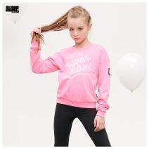Sweater / sweater SuperRebel Pink grey female 130cm (Euro 8 / 128) 140cm (euro 10 / 140) 155cm (Euro 12 / 152) 165cm (Euro 14 / 164) spring and autumn nothing Socket Cotton 100% R902-5300 Summer of 2019