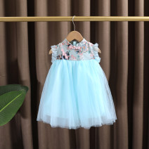Dress female Dr. Black  Other 100% summer ethnic style Short sleeve Netting Suspender skirt / vest skirt flower 2021.5.6B06 Class A 7 years old, 12 months old, 3 years old, 6 years old, 18 months old, 9 months old, 5 years old, 4 years old, 2 years old Chinese Mainland Zhejiang Province Huzhou City