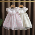 Dress Pink, light green female Dr. Black  90cm,100cm,110cm,120cm,130cm Cotton 95% other 5% summer lady Skirt / vest Broken flowers cotton other 2021-4.10-B004 Class A 12 months, 9 months, 18 months, 2 years old, 3 years old, 4 years old, 5 years old, 6 years old, 7 years old Chinese Mainland
