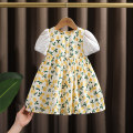 Dress yellow female Dr. Black  90cm,100cm,110cm,120cm,130cm Cotton 95% other 5% summer fresh Fruits cotton A-line skirt 2021-4.12-B001 Class A 12 months, 9 months, 18 months, 2 years old, 3 years old, 4 years old, 5 years old, 6 years old, 7 years old Chinese Mainland Zhejiang Province