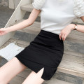 skirt Summer 2021 S M L XL Black and white Short skirt commute High waist A-line skirt Solid color Type A 18-24 years old 91% (inclusive) - 95% (inclusive) Leisure trace other zipper Korean version New polyester 95% other 5% Pure e-commerce (online only)