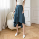 skirt Spring 2021 S M L XL Black Lake Blue longuette commute High waist Irregular Solid color Type A 25-29 years old XH9110#41 91% (inclusive) - 95% (inclusive) Leisure trace other Asymmetry Simplicity New polyester 95% other 5% Pure e-commerce (online only)