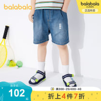 trousers Bala male 110cm 120cm 130cm 140cm Denim light blue 88101 denim dark blue 88301 summer shorts leisure time No model Casual pants Leather belt middle-waisted Cotton polyester Don't open the crotch Cotton 89.2% polyester 10.8% other Summer 2021 Chinese Mainland