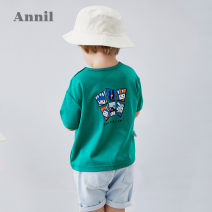 T-shirt Annil / anel 80cm 90cm 100cm 110cm 120cm male summer Short sleeve Crew neck leisure time There are models in the real shooting nothing cotton Cartoon animation Cotton 100% Summer 2020 12 months, 18 months, 2 years old, 3 years old, 4 years old, 5 years old, 6 years old Chinese Mainland