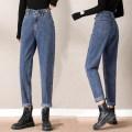 Jeans Summer 2021 807 Retro Blue 807 blue grey 807 black grey S M L XL 2XL trousers High waist Pencil pants Dark color 807#ssd5541 Deb Cotton 100% Pure e-commerce (online only)