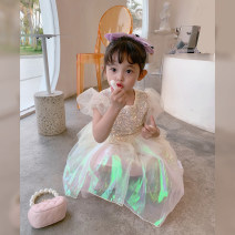 Dress Mermaid, mermaid female Fall in love with pretty girl 80cm,90cm,100cm,110cm,120cm,130cm,140cm Other 100% summer princess Short sleeve other other A-line skirt 12 months, 18 months, 4 years old, 2 years old, 3 years old, 5 years old, 6 years old, 7 years old