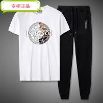 Leisure sports suit winter M (90-120 Jin), l (120-140 Jin), XL (140-150 Jin), 2XL (150-170 Jin), 3XL (170-185 Jin), 4XL (185-210 Jin), 5XL (210-240 Jin), 6xl (240-270 Jin) Short sleeve Versace trousers