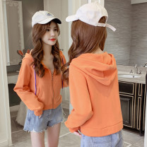 Sweater / sweater Spring 2021 S M L XL Long sleeves have cash less than that is registered in the accounts Cardigan singleton  routine Hood easy commute routine Solid color 25-29 years old 96% and above Qian Yuanqian Korean version other polyester fiber Intradermal bile duct Other 100%