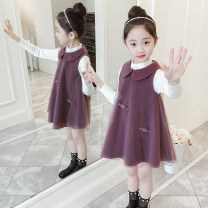 Dress female 100cm 110cm 120cm 130cm 140cm 150cm Other 100% spring and autumn Korean version Skirt / vest Solid color A-line skirt Class B Summer of 2019 4 years old, 5 years old, 6 years old, 7 years old, 8 years old, 9 years old, 10 years old, 11 years old, 12 years old, 13 years old, 14 years old