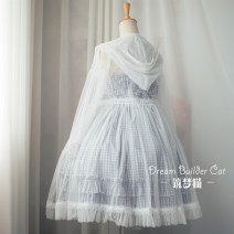 Lolita / soft girl / dress Dream cat This white spot, white custom 15 days delivery L,M,S,XL No season Classic, Gothic, Lolita