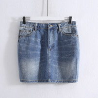 skirt Autumn 2020 M,L,XL Denim blue Short skirt Natural waist other 25-29 years old MZ20Q348 More than 95% cotton