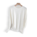 Wool knitwear Spring 2021 L,XL white Long sleeves singleton  Socket other More than 95% Regular routine commute Straight cylinder Low crew neck Solid color Socket Korean version WM366B8102 25-29 years old Other / other