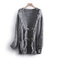 Wool knitwear Spring 2021 S Gray white Long sleeves singleton  Cardigan acrylic fibres More than 95% Regular routine commute Straight cylinder routine other Socket Korean version 25-29 years old Other / other