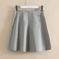 skirt Summer 2020 XS,S,M Black, greyish green Short skirt commute Natural waist other 25-29 years old More than 95% Other / other cotton Korean version