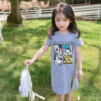 Dress Black, gray female Other / other 90cm,100cm,110cm,120cm,130cm,140cm Other 100% summer Korean version Cartoon animation other other Class B 18 months, 2 years old, 3 years old, 4 years old, 5 years old, 6 years old, 7 years old, 8 years old Chinese Mainland