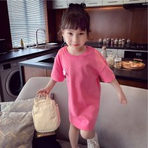 Dress Light yellow, red female Other / other 90cm,100cm,110cm,120cm,130cm,140cm,150cm Other 100% summer leisure time Short sleeve Cartoon animation other other 18 months, 2 years old, 3 years old, 4 years old, 5 years old, 6 years old, 7 years old, 8 years old Chinese Mainland
