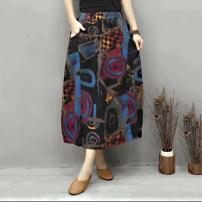 skirt Summer 2021 Solid color 40-49 years old pocket