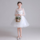 Children's dress white female 100cm 110cm 120cm 130cm 140cm 150cm 160cm 161cm or above can be customized size, does not support return Mido house full dress MDW079 Class B polyester fiber Polyester 100% Summer 2020 princess