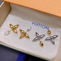Earrings Alloy / silver / gold 101-200 yuan Gold, silver brand new female Europe and America goods in stock Fresh out of the oven Not inlaid Plants and flowers