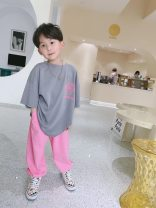 T-shirt grey Other / other 100cm,110cm,120cm,130cm,140cm,150cm,160cm,165cm neutral summer Short sleeve Crew neck leisure time There are models in the real shooting nothing other Cartoon animation Other 100% Class A Sweat absorption Six, seven, eight, nine, ten, eleven, twelve, thirteen, fourteen