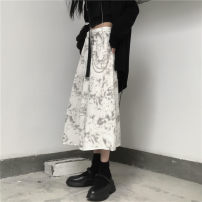 skirt Summer 2021 S,M,L White, black Mid length dress Versatile Natural waist other other Type A 18-24 years old 30% and below other other tie-dyed 401g / m ^ 2 (inclusive) - 500g / m ^ 2 (inclusive)