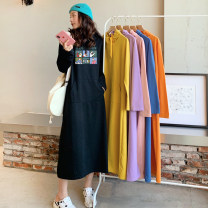 Dress Autumn 2020 M L XL XXL XXXL longuette singleton  Long sleeves commute Hood Loose waist Cartoon animation Socket A-line skirt routine Others 18-24 years old Type H Weimei (clothing) Korean version 51% (inclusive) - 70% (inclusive) other cotton Cotton 65% other 35% Pure e-commerce (online only)