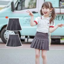 skirt 100cm 110cm 120cm 130cm 140cm 150cm 160cm m [adult size] Crested duck female Polyester 100% summer skirt college Pleats 1834tb nine fold skirt Class B Summer 2020