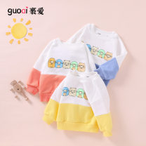 Sweater / sweater Love Blue yellow orange size chart neutral 90cm 95cm 100cm 110cm 120cm spring and autumn nothing leisure time Socket routine Official pictures cotton Cartoon animation Cotton 97% polyurethane elastic fiber (spandex) 3% MC1072CC Class A Cotton liner Spring 2021