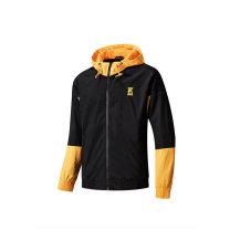 Sports jacket / jacket Erke / hongxingerke male M (adult), l (adult), XL (adult), 2XL, 3XL, 4XL Charming night green, black / dusk yellow, black / magma red Summer 2020 Hood zipper Color contrast, letters Sports & Leisure Windbreak Sports life