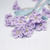 Belt / belt / chain other wathet female Waist chain Sweet Double loop Youth, youth, middle age Flower design 0.8cm