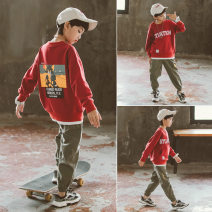 suit Congge Red, blue, black 120cm 130cm 140cm 150cm 160cm 170cm male spring and autumn Korean version Long sleeve + pants 2 pieces routine There are models in the real shooting Socket nothing Cartoon animation cotton children Giving presents at school C20067-1 Class B Cotton 84% pet 16% Spring 2021