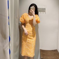 Dress Spring 2021 Yellow, green S,M,L TRAF