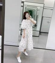 Dress Spring 2020 White, goose yellow XS,S,M,L TRAF