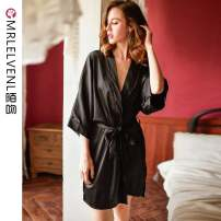 Nightgown / bathrobe Other / other female M (suitable for 80-110 kg), l for 100-140 kg) Thin money sexy summer 81% (inclusive) - 95% (inclusive) silk Solid color youth MR254#- One piece 200g and below