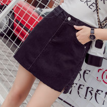 skirt Summer 2020 S M L XL 2XL blue Short skirt Versatile High waist skirt Solid color Type A 25-29 years old 6068ty Denim Denim Sidi / daningsti Pure e-commerce (online only)