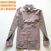 shirt Fashion City Others 170 / m, 175 / L, 180 / slim, 190 / slim Decor Thin money Pointed collar (regular) Long sleeves Self cultivation go to work autumn youth Youthful vigor lattice Plaid cotton Health care fabric 50% (inclusive) - 69% (inclusive)