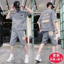 Leisure sports suit summer M,L,XL,2XL,3XL,4XL,5XL Grey suit, green suit, white suit Short sleeve Other / other Pant teenagers T-shirt C12 other 2020 100% polyester
