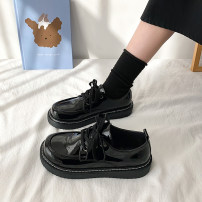 Low top shoes 35,36,37,38,39 Other / other Round head PU Flat bottom Flat heel (1cm or less) Deep mouth PU Spring 2021 Frenulum Korean version Adhesive shoes Youth (18-40 years old) Solid color rubber Single shoes Cross strapping, platform PU Face dressing