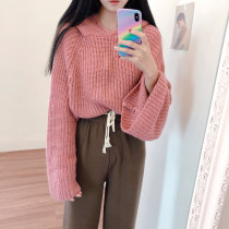 sweater Autumn of 2018 Average size powder Long sleeves Socket singleton  have cash less than that is registered in the accounts other 71% (inclusive) - 80% (inclusive) Hood thickening Sweet A-type